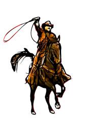 cowboy color illustration