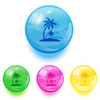 Balls with palms icons