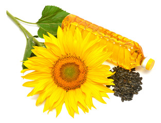 Sunflower oil, sunflower and seeds