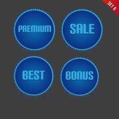 Set of Ribbon Icon With Premium