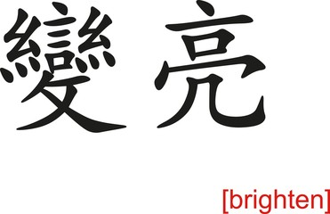 Chinese Sign for brighten