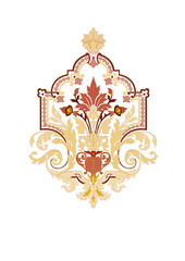Gold Islamic Motif