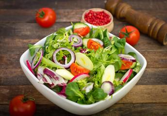 Fresh salad on the table
