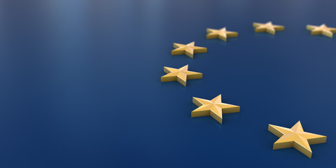 European Union flag background