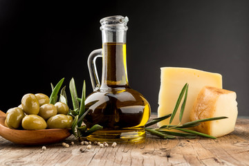 Olives oil green olive cheese