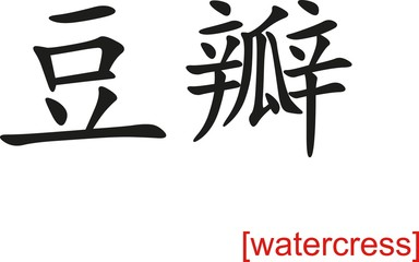 Chinese Sign for watercress