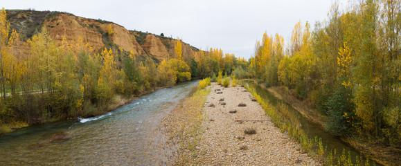 Panoramica de Paisaje con río y arboledas