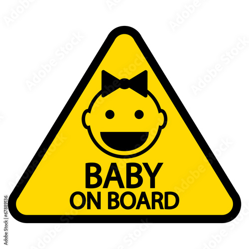 Baby on board sign