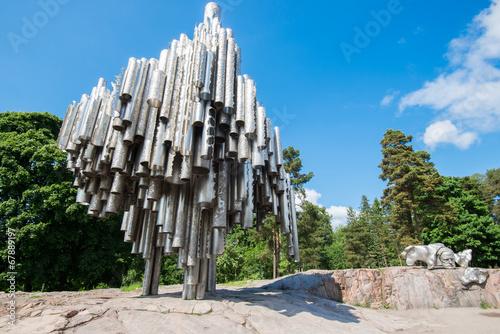 Spoed canvasdoek 2cm dik Standbeeld Sibelius Monument in Helsinki, Finland