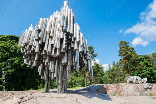 Poster Standbeeld Sibelius Monument in Helsinki, Finland