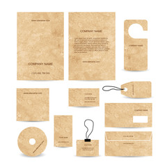 Set of abstract business cards template empty