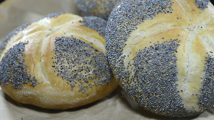 Rotating Poppyseed Buns (loopable full HD video)