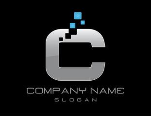 Techno letter C