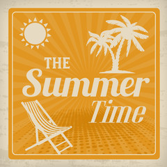 The summer time retro poster