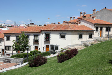 Residential buildings in Avila, Castilla y Leon, Spain