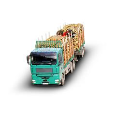 Lwk beim Holz transportieren