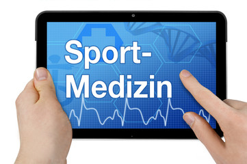 Tablet mit Interface und Sportmedizin
