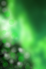 Abstract smooth green bokeh background