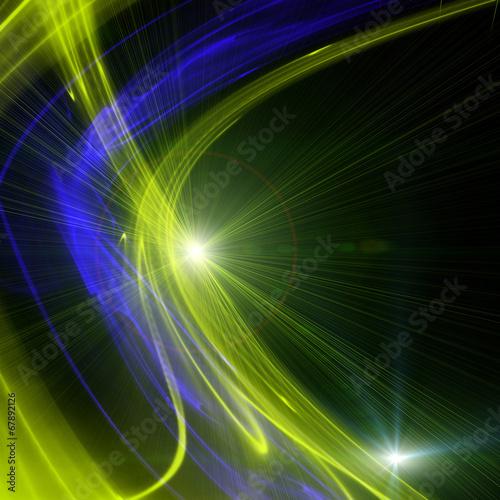 Leinwanddruck Bild futuristic wave background design with lights