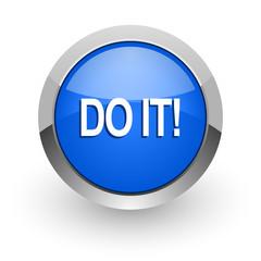 do it blue glossy web icon