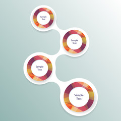 colorful round diagram metaball infographics