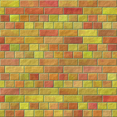 Brick wall seamless generated hires texture