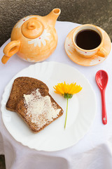 Toast with Butter and Coffee