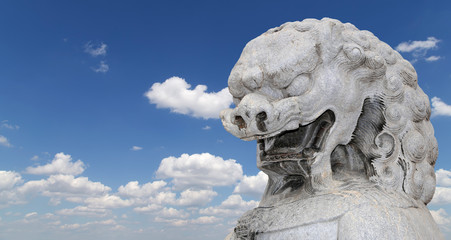 Stone Guardian Lion Statue in Beihai Park -- is an imperial gard