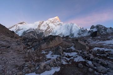 Nuptse and Khumbu Glacier from Gorak Shep