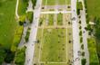 Leinwanddruck Bild - Crowd of tourists relaxing in Champs de Mars gardens, under the