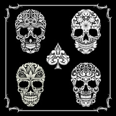 Bundle Skull Ornamental