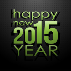 happy new 2015 year green