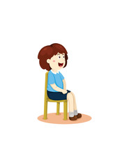 cute girl sitting on the chair