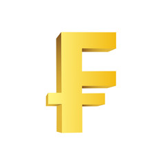 Golden currency symbol