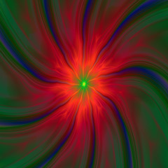 Green Eyed Swirl on Red