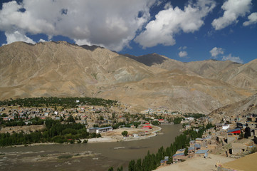 The village at Kargil in Himalaya mountains ,India