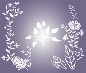 Flower Floral background vector