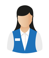 office girl vector
