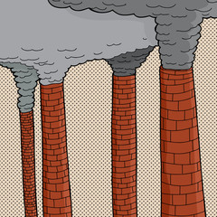 Polluting Smoke Stacks