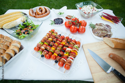 canvas print picture Full of tasty grill food