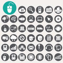 Computer icons set. Illustration eps10