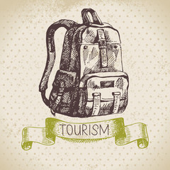 Vintage sketch tourism background