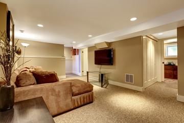 Warm living room interior