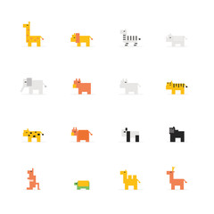Pixel wildlife animal icon
