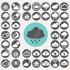 Cloud icons set. Illustration eps10