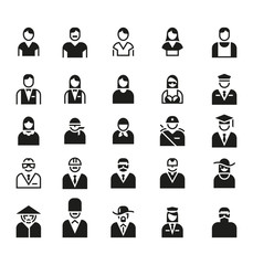 People Icon Symbol Logo Vector Set