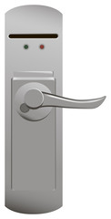 Door handle with electric lock