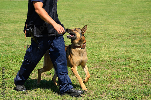 Foto op Canvas Wolf K9 police officer with his dog