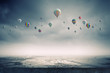 canvas print picture - Flying balloons