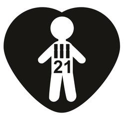 Chromosomes 21, Trisomy 21, Down Syndrome.  Concept
